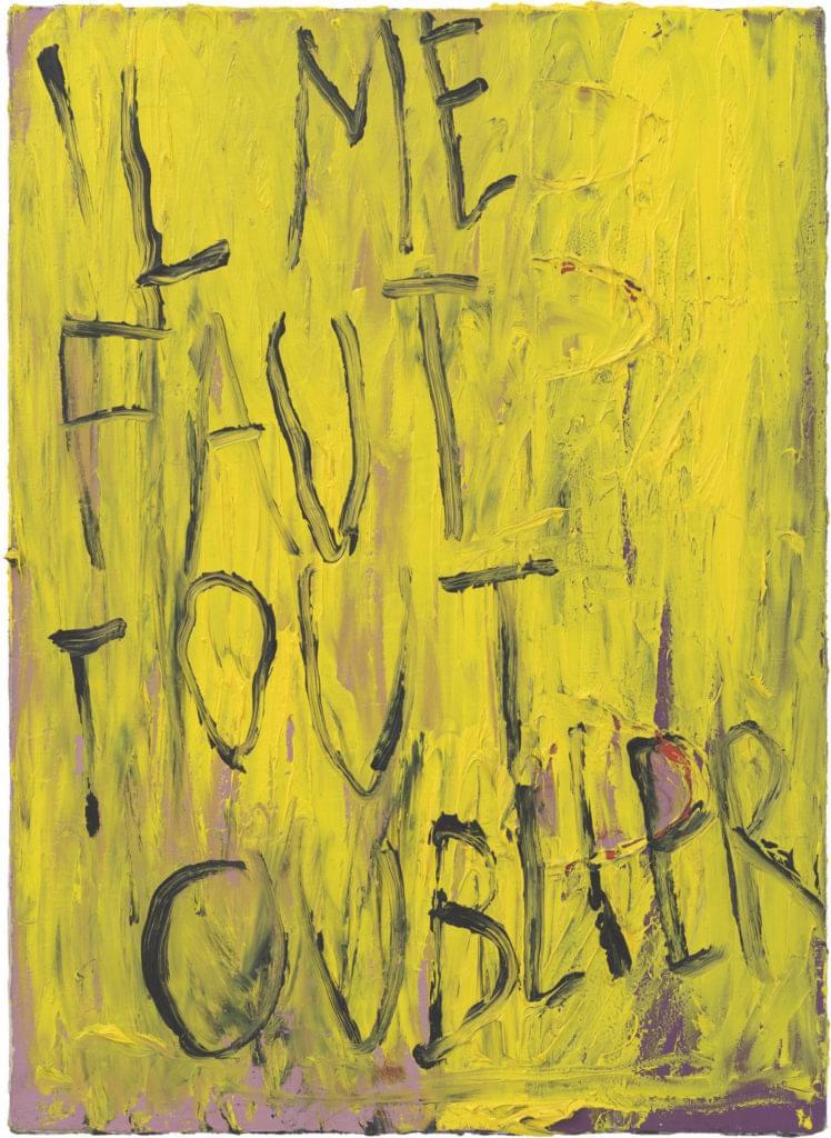 Philippe Vandenberg 2005 2008 painting oil on canvas il me faut tout oublier