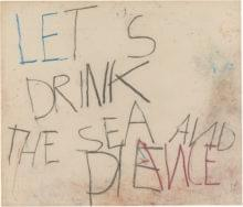 Philippe Vandenberg 2005 2008 word drawing pastel paper let's drink the sea and die dance